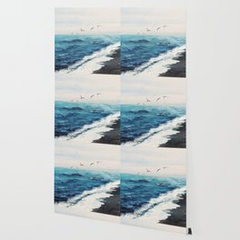 Watercolor Coast Wallpaper