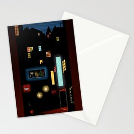 Late Night Neon Lights Stationery Cards