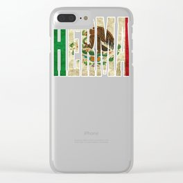 Hermana Gift Mexican Design For Mexican Flag Design For Mexican Pride Vintage Flag Outline Clear iPhone Case