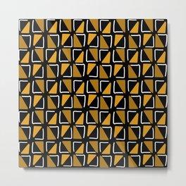 Bogolan malien - pattern black Metal Print
