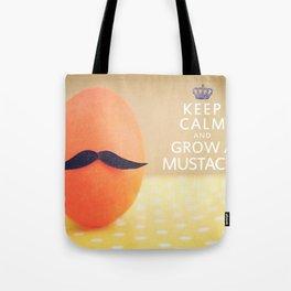 Keep Calm & Grow A Mustache Tote Bag