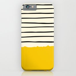 Yellow stripes pattern iPhone Case