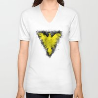 x men V-neck T-shirts featuring Phoenix - X-Men by Trey Crim