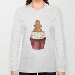 Gingerbread man Cupcake Long Sleeve T-shirt