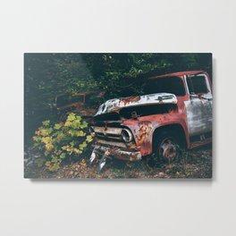 Vintage Trucks in the Woods Metal Print