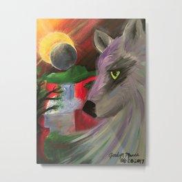 Elipse Wolf Metal Print