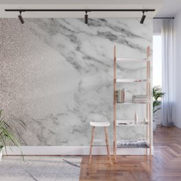 Marble sparkle rose gold Wall Mural