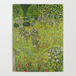 "Gustav Klimt ""Orchard with Roses (Obstgarten mit Rosen)"" Poster"