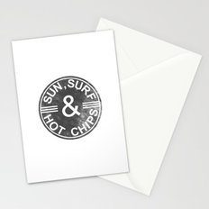 Sun, surf and hot chips! Stationery Cards