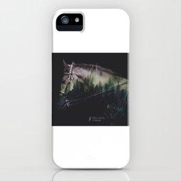 Double Exposure Horse iPhone Case