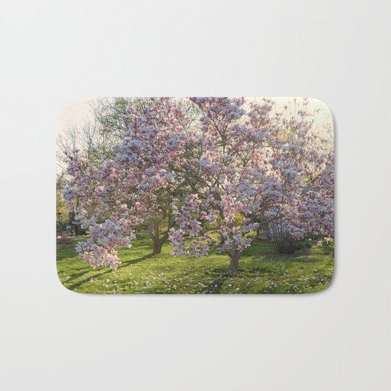 Magnolia tree in spring Bath Mat