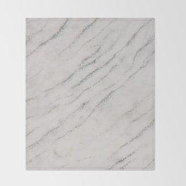 Marble Silver Glitter Glam #1 #shiny #gem #decor #art #society6 Throw Blanket
