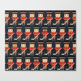 Super cute sports stars - Ice Hockey Red, Yellow and Black Canvas Print