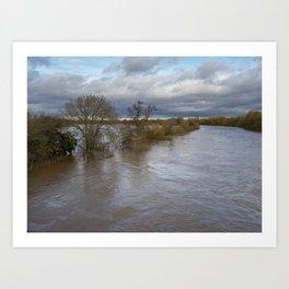 River Ouse Flooding Art Print