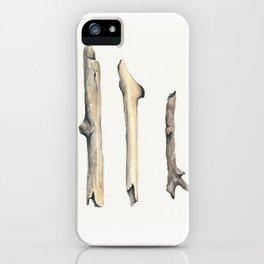Little Sticks Watercolor Study iPhone Case