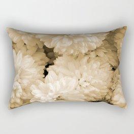 Monochrome Abstract Mums Rectangular Pillow
