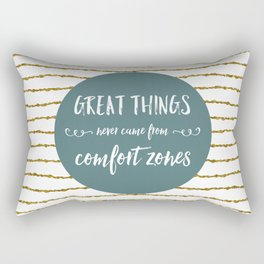 Comfort Zones Quote Rectangular Pillow