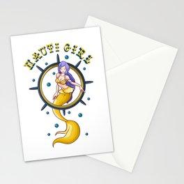 Nauti Girl Naughty Mermaid Nautical Pun Stationery Cards