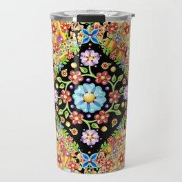 Boho Chic Flower Garden Travel Mug