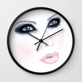 Glitter in Her Eyes - Apple Spicer Wall Clock