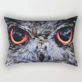 Sight: The Eyes of an Eagle Owl Rectangular Pillow