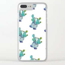 Prickly Pear Cactus Boi Clear iPhone Case