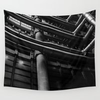 industrial Wall Tapestries featuring Industrial Pipes by Pati Designs