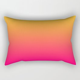 Hot Pink / Golden Heart Gradient Colors Rectangular Pillow