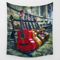 guitar Wall Tapestries featuring Guitar Love by Ian Mitchell