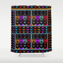 HEARTS and HANDS, flipped photo art Shower Curtain