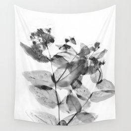 Ghostly Blooms Wall Tapestry