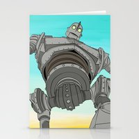 iron giant Stationery Cards featuring Iron Giant by 117 Art