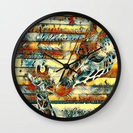 AnimalArt_Giraffe_20171204_by_JAMColorsSpecial Wall Clock