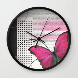 The Butterfly Abstract Wall Clock