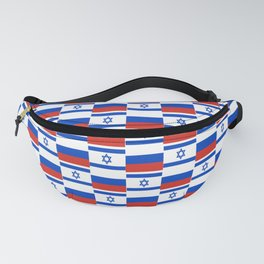 Mix of flag: israel and Russia Fanny Pack