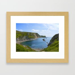 Man of War Bay Framed Art Print