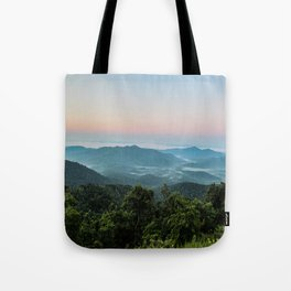 The Morning Mists Tote Bag