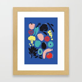 Eat more fruit and veggies Framed Art Print
