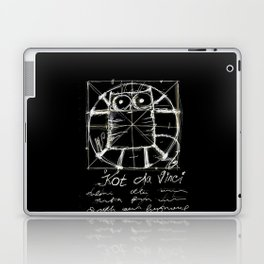 Kot da Vinci (black) Laptop & iPad Skin