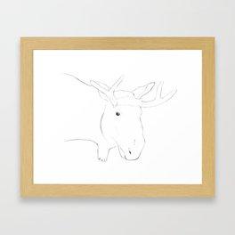 Moose Sketch Framed Art Print