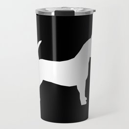 Chihuahua silhouette black and white pet art dog pattern minimal chihuahuas Travel Mug