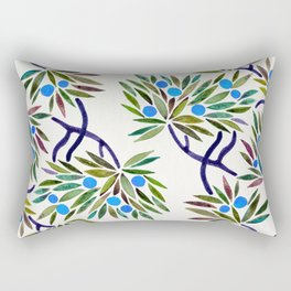 Bonsai Fruit Tree – Blue Palette Rectangular Pillow