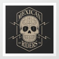 mexican Art Prints featuring mexican riders by Taranta Babu