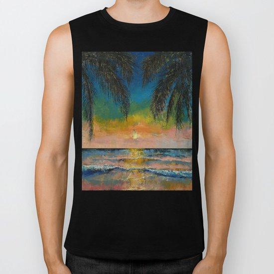 Tropical Sunset Biker Tank