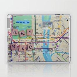 New York City, NYC Map, Subway, Travel Laptop & iPad Skin
