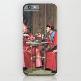 Jehan Georges Vibert - Cardinals' Friendly Chat - Digital Remastered Edition iPhone Case