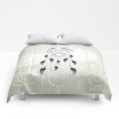 Dreamcatcher in black and white Comforters