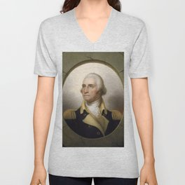 George Washington Portrait Unisex V-Neck