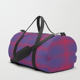 tangled, blue and red pattern Duffle Bag