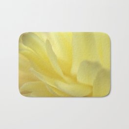 Mellow Yellow Peony Close up Bath Mat